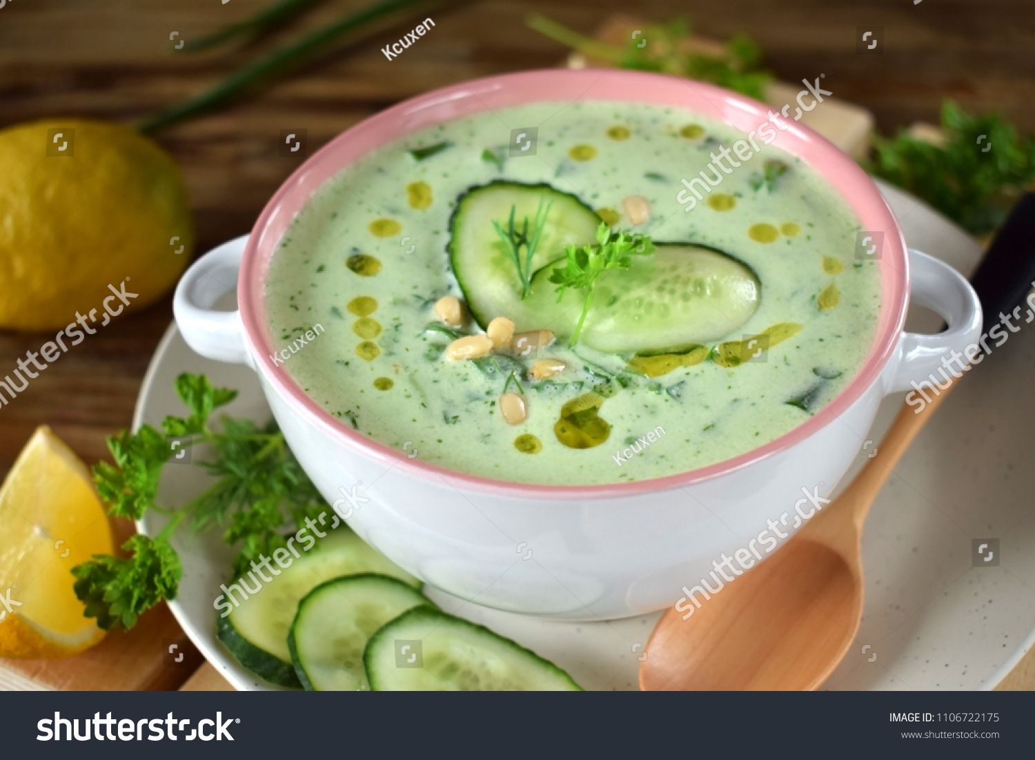 stock-photo-cold-soup-tarator-with-yogurt-cucumbers